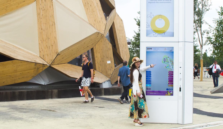 Digital totem in Expo 2015
