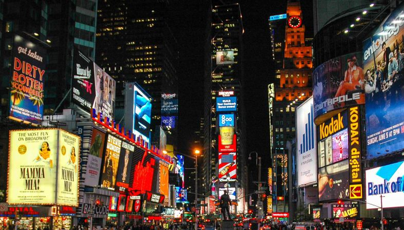 Times Square: one of the most popular places of Digital Out of Home advertising is the