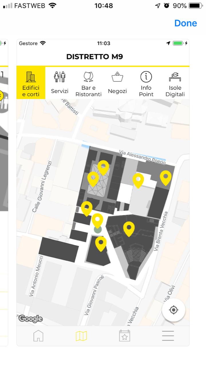 M9 Polymnia mobile application maps